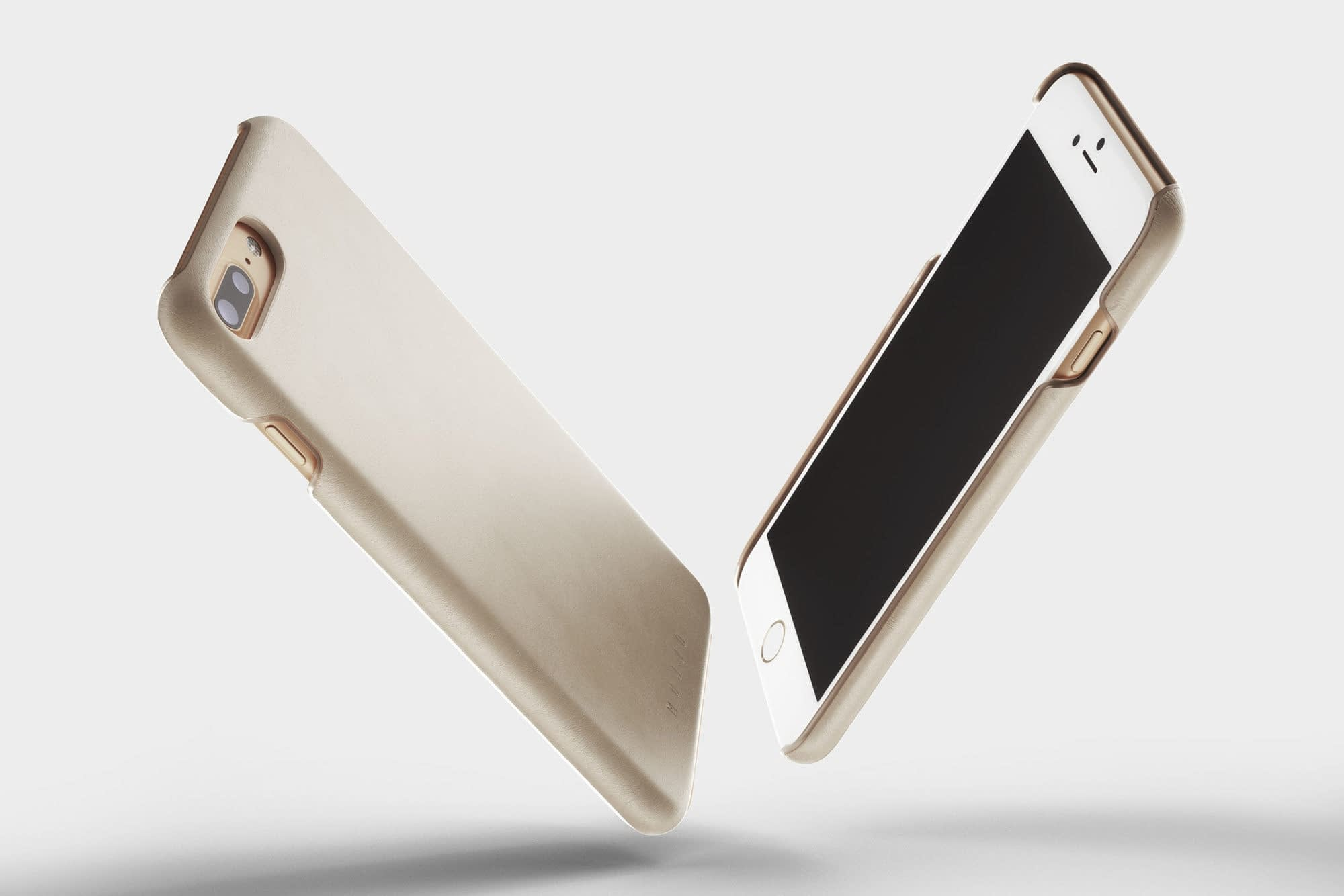 Leather Case for iPhone 8 Plus Champagne 1 1