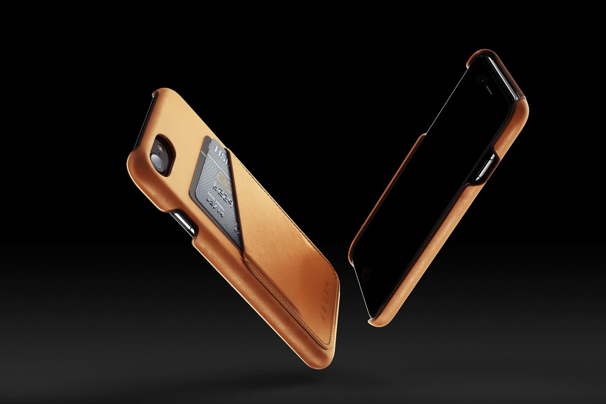 Leather Wallet Case for iPhone 7 Tan 003 1