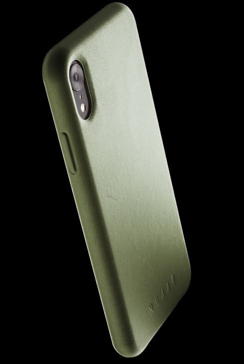 full leather case for iphone Xr olive 002