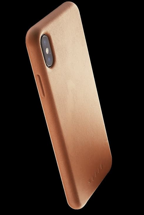 full leather case for iphone Xs Max tan 002