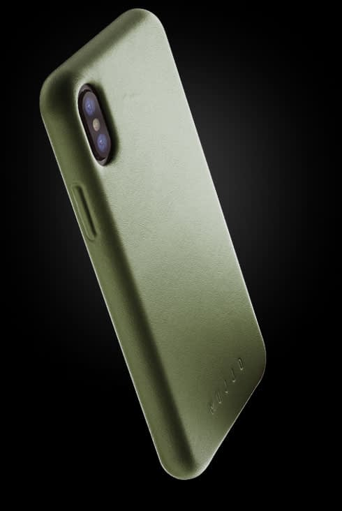 full leather case for iphone Xs olive 002