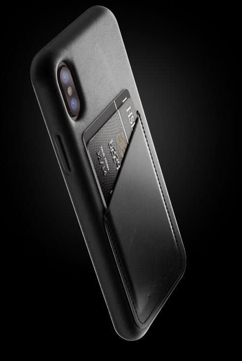 full leather wallet case for iphone Xs black 002