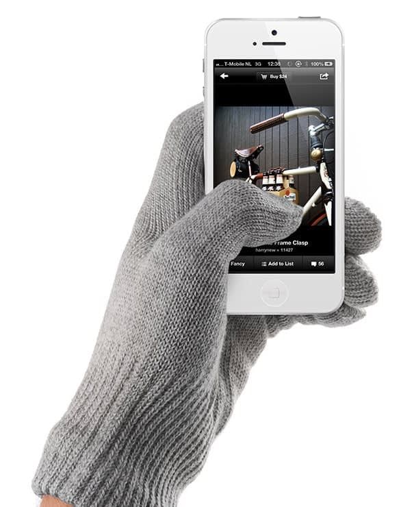 touchscreen gloves gray by mujjo aw1213 collection