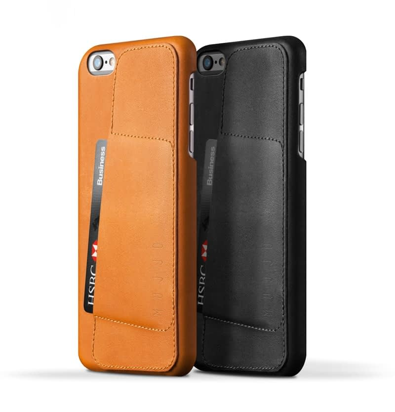 Leather Wallet Case 80° for iPhone 6 Plus Tan pr 001
